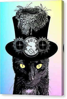 Mad Hatter Cat Canvas Print