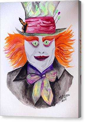 Mad Hatter Canvas Print by Maria Urso