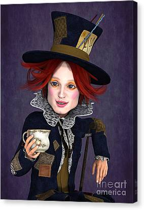 Mad Hatter Canvas Print - Mad Hatter Portrait by Methune Hively
