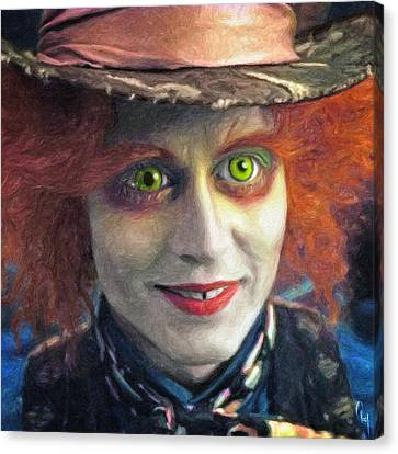 Mad Hatter Canvas Print by Taylan Apukovska