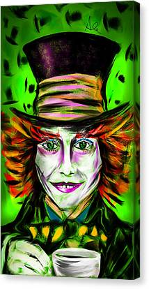 Mad Hatter Canvas Print by Alessandro Della Pietra
