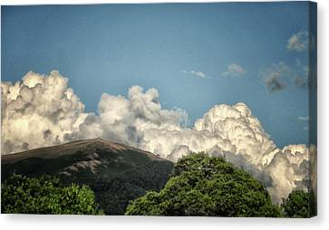 Mad Looking Clouds Canvas Print by Martin Newman