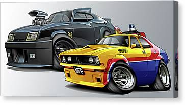 Mad Max Falcon And Interceptor Canvas Print by Maddmax