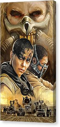 Mad Max Fury Road Artwork Canvas Print by Sheraz A