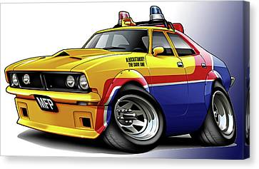 Mad Max Mfp Falcon Police Car Canvas Print by Maddmax