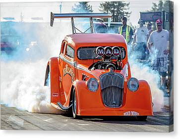 Mad Mike Racing Canvas Print by Bill Gallagher