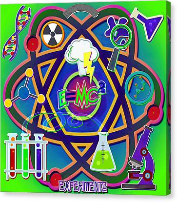 Mad Science Collage Canvas Print