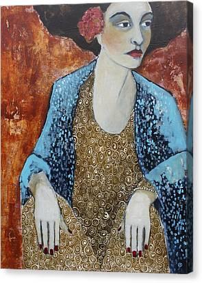 Figure Study Canvas Print - Madam Blue by Jane Spakowsky