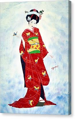 Madam Butterfly Asian Art  Canvas Print