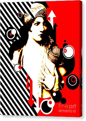 Seduction Canvas Print - Madam Stripe by Chris Andruskiewicz
