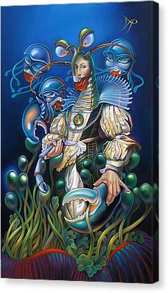 Madame Clawdia D'bouclier From Mask Of The Ancient Mariner Canvas Print by Patrick Anthony Pierson