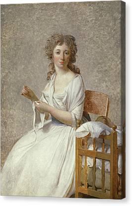 Madame De Pastoret And Her Son Canvas Print by Jacques Louis David