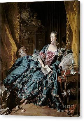 Boudoir Canvas Print - Madame De Pompadour by Francois Boucher