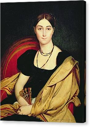 Madame Devaucay Canvas Print by Jean Auguste Dominique Ingres