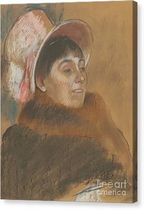 Half-length Canvas Print - Madame Dietz-monnin, 1879 by Edgar Degas