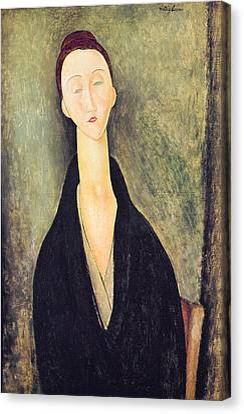 Madame Hanka Zborowska Canvas Print by Amedeo Modigliani