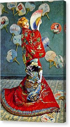 Madame Monet 1876 Canvas Print by Padre Art