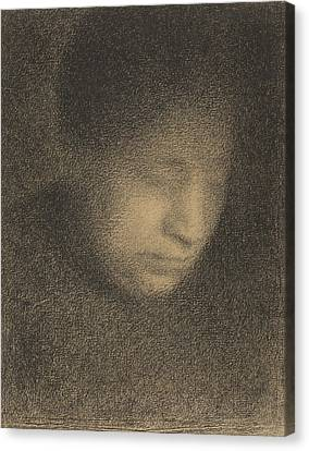Seurat Canvas Print - Madame Seurat The Artists Mother by Georges-Pierre Seurat