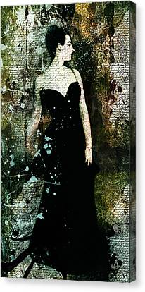 Madame X Modern Art Canvas Print by Georgiana Romanovna