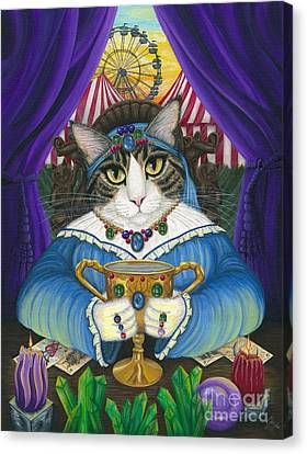 Madame Zoe Teller Of Fortunes - Queen Of Cups Canvas Print