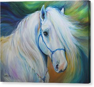 Maddie The Angel Horse Canvas Print by Marcia Baldwin
