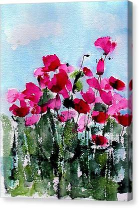 Maddy's Poppies Canvas Print by Anne Duke