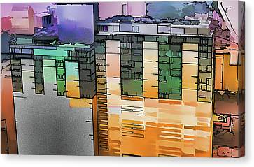 Canvas Print featuring the digital art Made For Each Other by Wendy J St Christopher