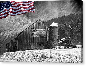 Made In America Red White And Blue Canvas Print by John Stephens