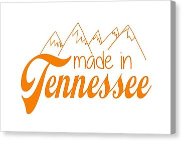Canvas Print featuring the digital art Made In Tennessee Orange by Heather Applegate