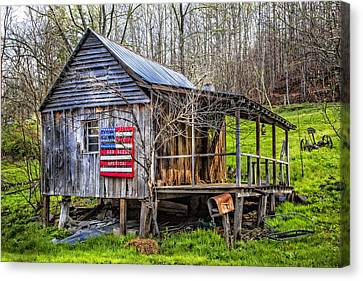 Made In The Usa Canvas Print by Debra and Dave Vanderlaan