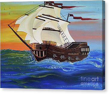 Landscape Canvas Print - Adjust The Sails by Amanda Gervais