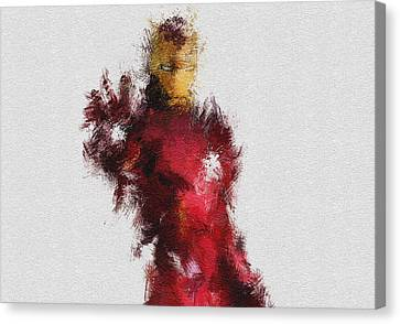 Avengers Canvas Print - Made Of Iron by Miranda Sether