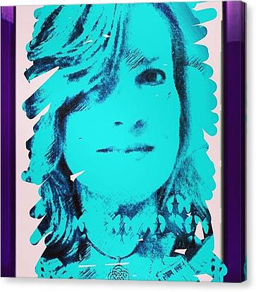 Made This Digital Self Portrait Canvas Print by Genevieve Esson
