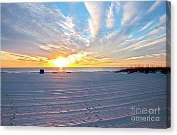 Madera Beach Sunset Canvas Print