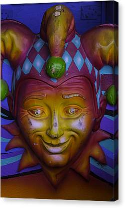 Madi Gras Jester Canvas Print by Garry Gay
