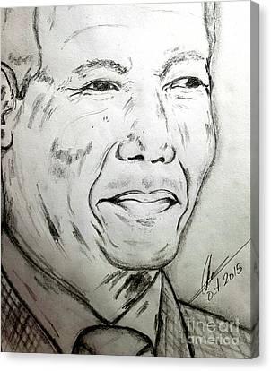 Madiba Canvas Print by Collin A Clarke