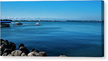 Canvas Print - Madison Across Lake Mendota by Steven Ralser