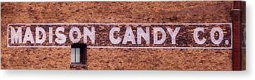 Madison Candy Co. Sign- Madison, Wi Canvas Print by Steven Ralser