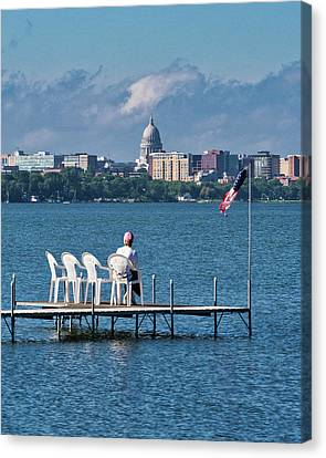 Canvas Print - Madison Capitol Across Lake Mendota by Steven Ralser