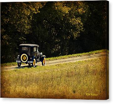 Madison County Back Roads-ford Canvas Print by Kathy M Krause