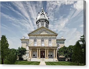 Madison County Courthouse Winterset Iowa  -  Std1 Canvas Print by Frank J Benz
