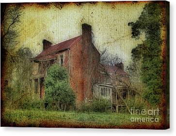 Madison Heights Mansion Canvas Print by Sari Sauls
