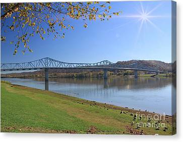 Madison, Indiana Bridge  Canvas Print