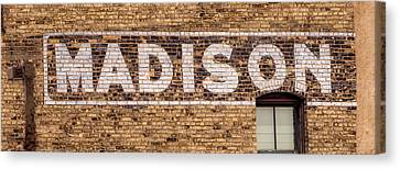 Madison Sign- Madison, Wi Canvas Print by Steven Ralser
