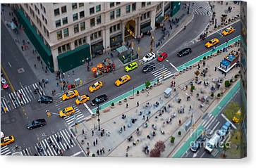 Madison Square Traffic I Canvas Print by Clarence Holmes