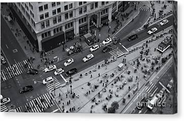 Crosswalk Canvas Print - Madison Square Traffic II by Clarence Holmes