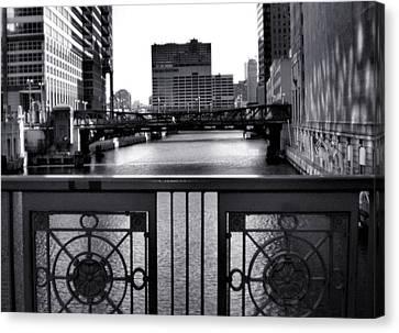 Madison Street Bridge - 3 Canvas Print by Ely Arsha