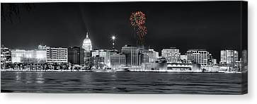 Canvas Print - Madison - Wisconsin - New Years Eve Fireworks 3 by Steven Ralser