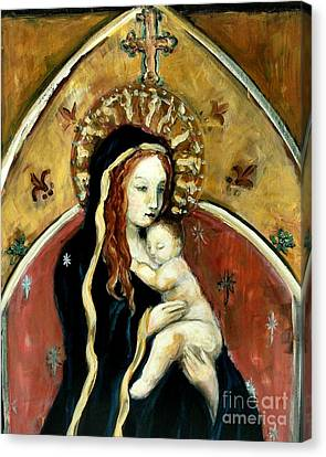Madonna And Child Canvas Print by Carrie Joy Byrnes