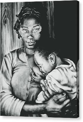 Madonna And Child Canvas Print by Curtis James